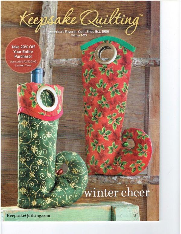 Keepsake Quilting Catalog Winter Cheer Joann Hoffman S Blog